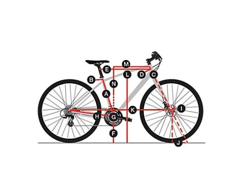 Trek Verve 2 Geometry chart 1
